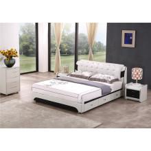 Мебель для спальни Мебель для спальни Кожаная мягкая кровать