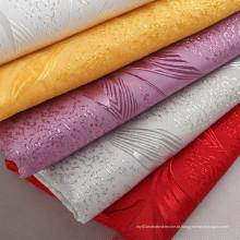 Tecido de poliéster clássico com bordado grande