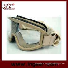 Compatibilité de casque airsoft X500 Swat tactique lunettes et lunettes de soleil Sport
