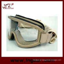 Airsoft X500 Swat Goggle tático compatibilidade de capacete e óculos de sol esporte