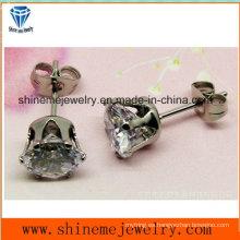 Shineme joyería de moda única piedra clara Earring Ear Stud (ER2913)