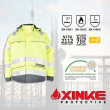 Vestes de sécurité ignifuges et anti-statiques modacryliques hautement visibles