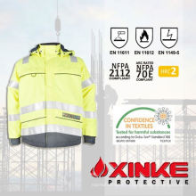 Высокий видимый Модакриловых огнестойкие и анти-статическое куртки безопасности