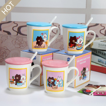 Cute Cartoon Animal Ceramic Mug Set