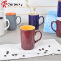 Nouvelle tasse de soupe en porcelaine, tasse et tasse à soupe en céramique