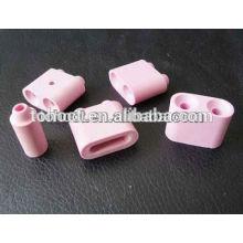 Almofada de cerâmica rosa / branco / contas de cerâmica em alumina para aquecimento