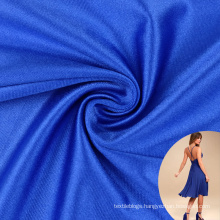 shiny knitted two side stretch 20D polyester 92 spandex 8 satin fabric for dress