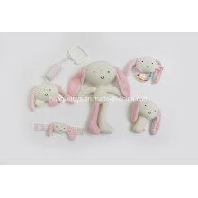 Fábrica de suministros de punto jersey de tela bebé artículo conjunto de regalo de juguete