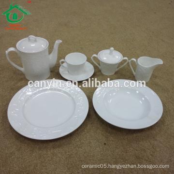 Wholesale customized cheap ceramic dinner set porcelain dinnerware set for restaurant