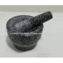 Morteros de piedra de granito y majadas Tamaño 13X9cm