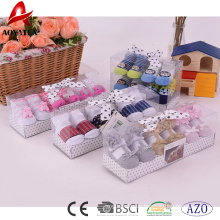 calcetines de bebé de algodón lindo diseño personalizado nuevo diseño caja