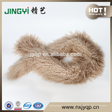 Wholesale Fancy Mongolian Sheep Skin Scarf