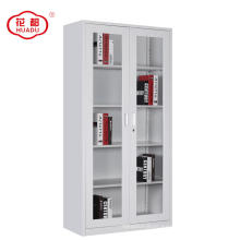 Glass Doors Metal Frame Filing Cabinet