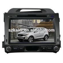 Système multimédia de voiture prix usine pour KIA Sportage 2013 avec GPS / Bluetooth / Radio / SWC / Internet virtuel 6CD / 3G / ATV / iPod / DVR