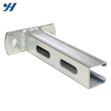 Suportes de soldadura de alta qualidade de aço galvanizados zinco do metal dos materiais de construção com furos