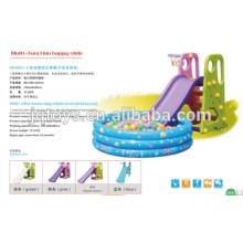 YQ1364 atacado hotsale Preschool Kids plástico pequeno feliz Play Tube Slide para crianças