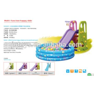 YQ1364 al por mayor hotsale preescolar niños pequeños plástico feliz diapositivas del tubo de juego a los niños