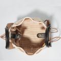 Saco de balde de tote removível simples estilo contraste coreano