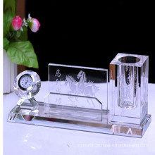 Suporte de cristal de vidro popular da pena para a decoraço do escritório