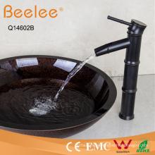 Orb Antique Faucet Bamboo Shape - Manija de una sola palanca, lavabo de baño, grifo
