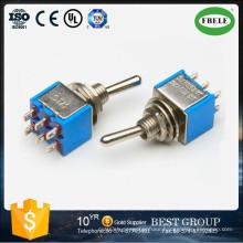 on-on 6A 125VAC Miniature Toggle Switch, Toggle Switch, Slide Switch, Tact Switch