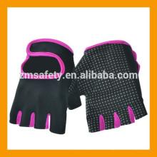 Guantes de ejercicio de peso medio gimnasio de fitness de dedo de mujer