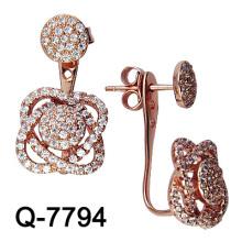 Moda 925 prata esterlina micro ajuste brinco (q-7794)
