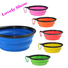 Free Sample Custom Collapsible Silicone Pet Water Bowl Collapsible Travel Dog Bowl