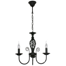 Contemporary style lighting fixtures modern American black candle chandeliers