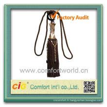 Fashion New Design utile en gros Rideau Polyester décoratifs glands pour rideaux