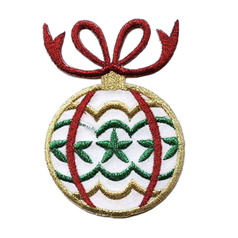 Christmas Ornament Iron On Embroidered Patch