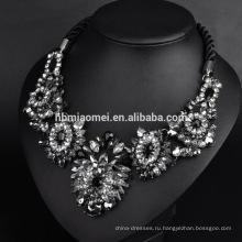 2017 мода лепесток формы бусины ожерелье Европа и Соединенные Штаты ожерелье мода красочные драгоценный камень цветы