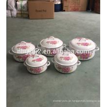 Panela quente de esmalte de aço carbono com alça de esmalte forte de alta qualidade para o Vietnã