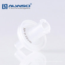 Venta al por mayor fabricante de filtro de jeringa de membrana de nylon de tamaño de poro 0.22um para análisis de laboratorio