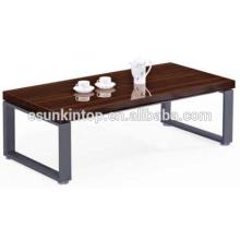 Модный дизайн кофейного столика для офисной красной зебры и глубокой отделки железа, офисная мебель Fashional для продажи (JO-4034-14)