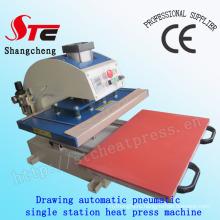 Сертификат CE, рисование пневматические тепла пресс машина 40 * 40 см автоматические футболку тепло передачи машины одной станции тепла передачи машины Stc-Qd08