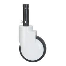 Roulette de verrouillage central à double roue en plastique de 125 mm pour lit médical