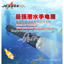 magnetic switch stepless dimming aluminum rechargeable led diving torch