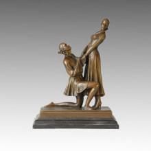 Tänzerin Statue Liebhaber Bronze Skulptur, DH Chiparus TPE-181