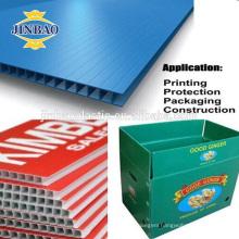 JINBAO hollow 4x8 ft size customize cut pp alveolar sheet