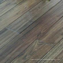 Revestimento de madeira maciça antigo rústico escuro cinzento do Robinia do olhar do Robinia
