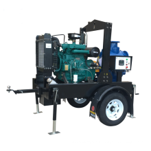 T-6 series diesel engine drive self-priming trailer sewage pump unit