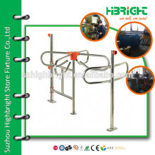 Manual combinational swing barrier gate for supermarket