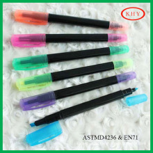 Colored ink dual tips non-toxic and eco-friendly highlighter for promotion