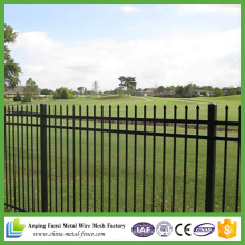 Australia Style Outdoor Black Powder Coated Steel Fence
