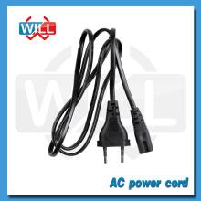 VDE CE ROHS 2pin Euro cable de corriente alterna estándar IEC C7