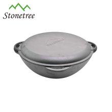Fonte noire pot de camping casserole de marmite
