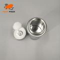 Tin mono top with cotton ball brush