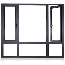 Fenêtre à double vitrage en aluminium Customzied avec volet roulant