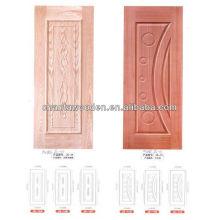 Piel de la puerta de mdf / hdf para la ceniza, la teca, el sapele, la chapa de la cereza